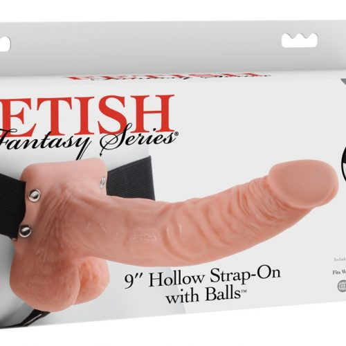 """05316690000 verp 500x500 - 9"""" Hollow Strap-on with Balls"""
