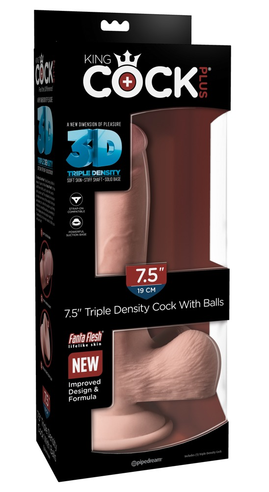 "05423850000 verp - 7.5"" Triple Density Cock with balls"
